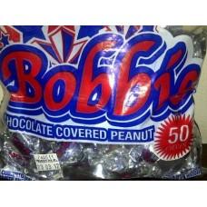 BOBBIE CHOCOLATE COVERED PEANUT (50 BALLS)